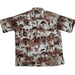 Via Ripatti Designs Africa Shirt Mens Size Large